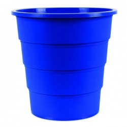 Koš na odpadky plný, modrý plast