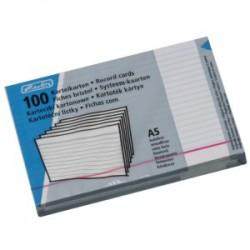 Lístkovnicové karty A5 linkované, bílé, 100 ks, Herlitz