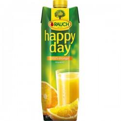 Happy Day pomeranč, 100%, 6 x 1 l