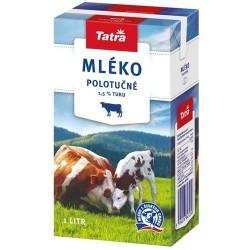 Trvanlivé mléko 1 l, polotučné, 1.5% tuku